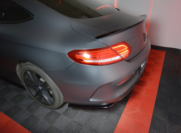 REAR SIDE SPLITTERS MERCEDES- BENZ C-CLASS W205 COUPE AMG-LINE