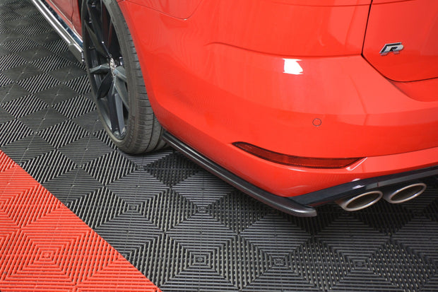 REAR SIDE SPLITTERS V.1 VW GOLF 7 R VARIANT FACELIFT