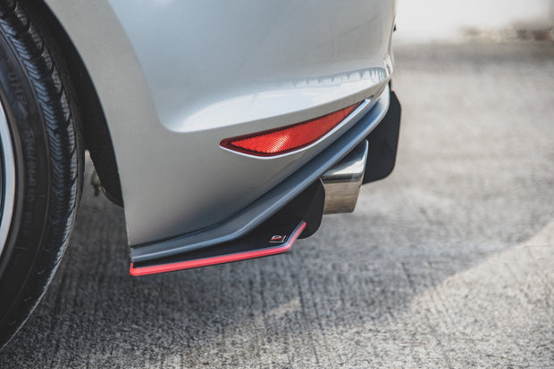 RACING DURABILITY REAR SIDE SPLITTERS V.1 VW GOLF 7 GTI