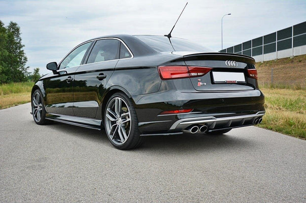 REAR SIDE SPLITTERS AUDI S3 / A3 S-LINE 8V FL SEDAN