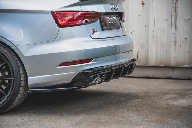 REAR SIDE SPLITTERS V.2 AUDI S3 SEDAN 8V FACELIFT