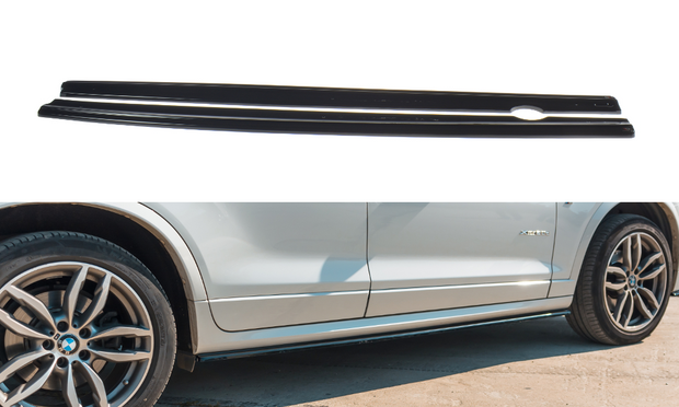 SIDE SKIRTS DIFFUSERS BMW X3 F25 M-PACK FACELIFT