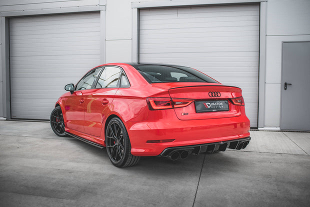 SIDE SKIRTS SPLITTERS AUDI S3 / A3 S-LINE 8V / 8V FL SEDAN