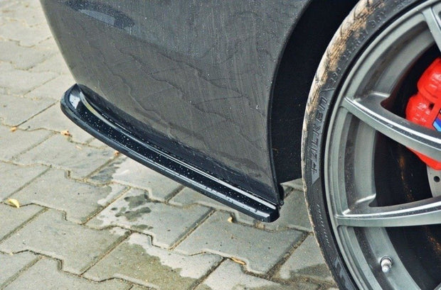 REAR SIDE SPLITTERS BMW 5 F11 M-PACK (FITS TWO DOUBLE EXHAUST ENDS)