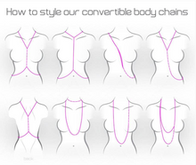Load image into Gallery viewer, Orbital Convertible Body Chain/Wrap Choker in Silver