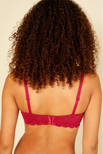 Load image into Gallery viewer, NSN Ruby Red Balconette Bra