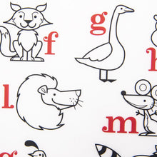 Load image into Gallery viewer, Modern Twist Alphabet Animals Mark Mat