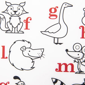 Modern Twist Alphabet Animals Mark Mat