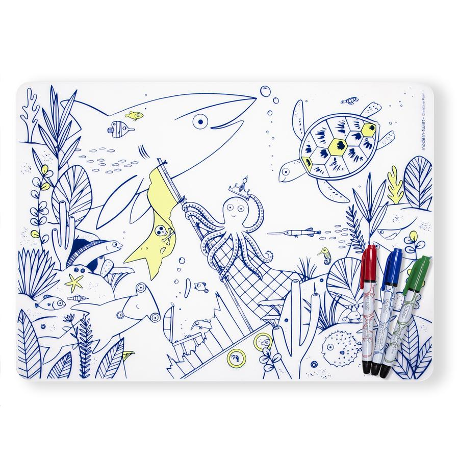 Modern Twist Under the Sea Mark Mat Set