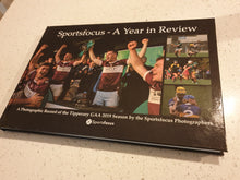 "Load image into Gallery viewer, ""Sportsfocus - A Year in Review"" Hard Back"
