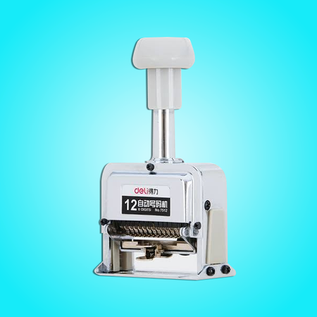 Stamp numbering machine