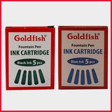 Goldfish Fountain Pen Ink Cartridges 5 Pieces