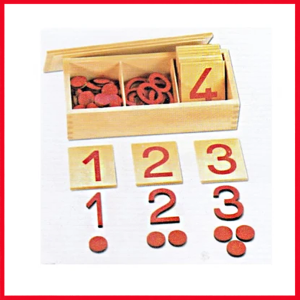 Cards And Counters In Montessori - Montessori Number Cards