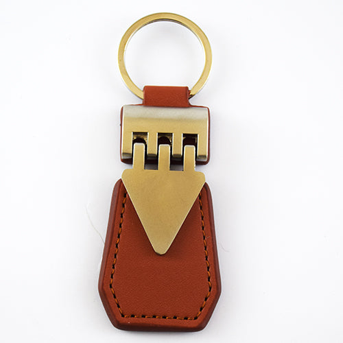 Brown Leather or Metal keychain