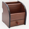 Cubic 8002 Wooden Pen Stand (Brown)