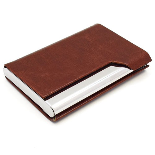 Leather & Stainless Steel Card Holder