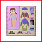 Wooden Learning Plate Girl Cloth