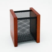 Wooden Mesh Pen Holder.