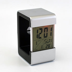 Smart Design Digital Table Clock Black & Silver
