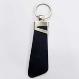 Black Leather Strap Keychain