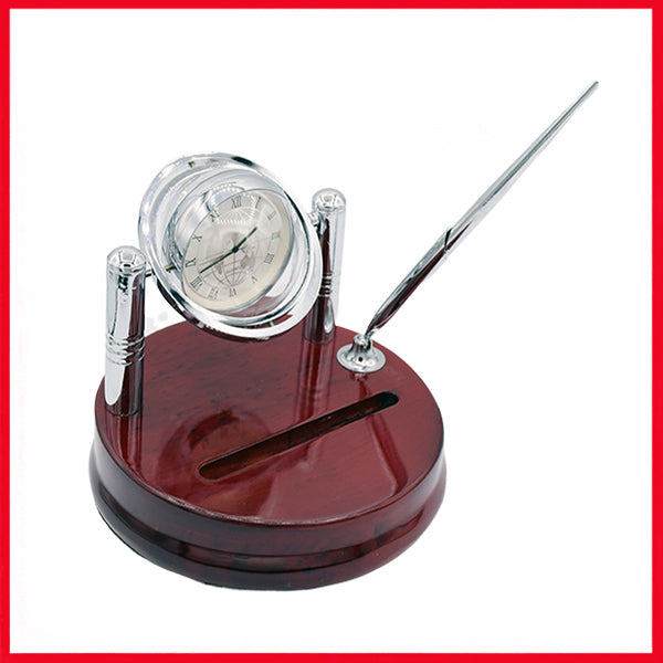 Executive Personalized Card Holder, Clock and Pen