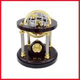Executive Desk Organizer With Analog Clock & Globe