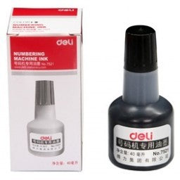 Deli 7521 Ink for Numbering Machine 40ml Black