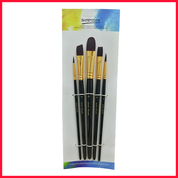 Worison Mix Artist Brush 5 Pcs Set