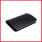 Black Stainless Steel With Soft Leather Wallet Card Holder