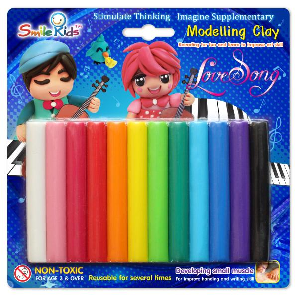Smile Kid Modelling Clay 200g 12 Colors
