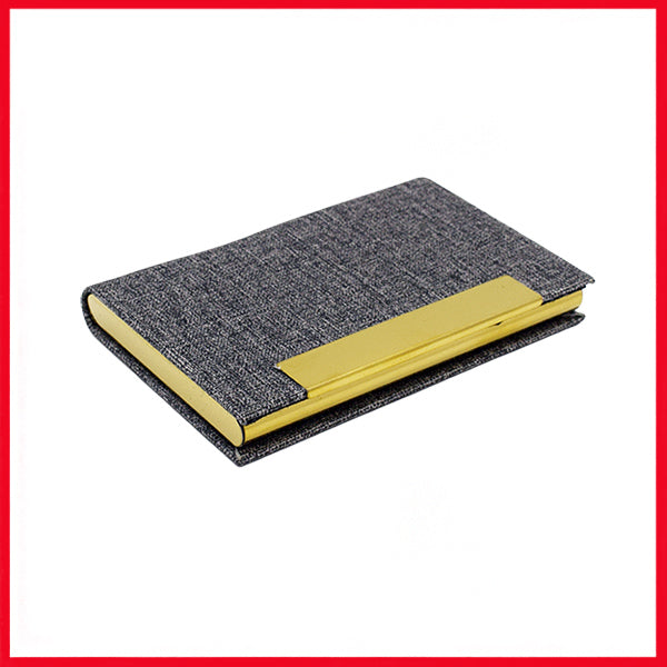 Grey & Gold Stainless Steel Card Holder