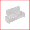 Silver Plastic Business Card Holder