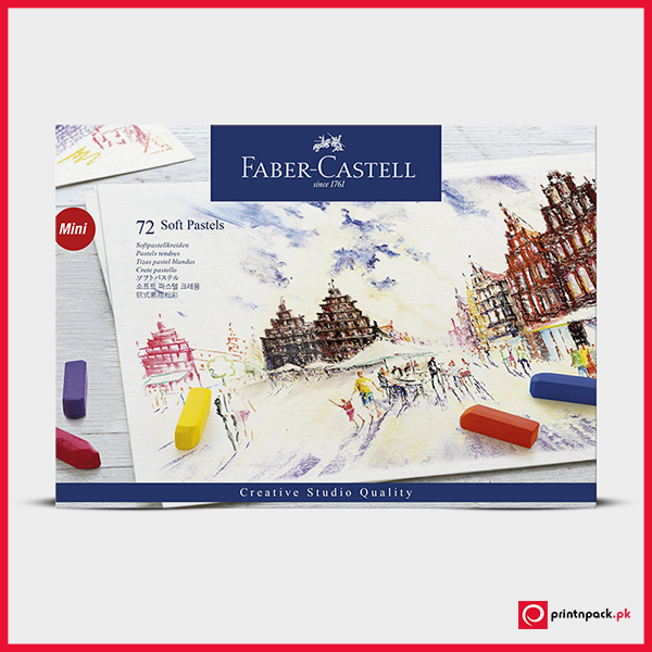 Faber Castell Soft Pastel Half Length Sticks - Box of 72