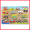 Cars - Bus - Cycle - Bike Wooden Learning Plates For Kids Early Education