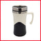 White & Black Stainless Steel Traveling Mug
