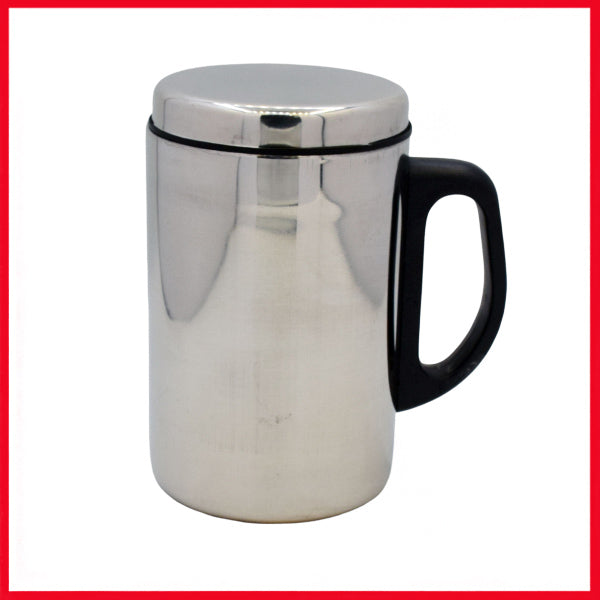 Stainless Steel Coffee Mug (Silver)