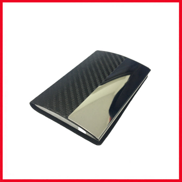 PU Leather Stainless Steel Card Holder