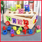 Numeric Wooden Box Pulling Toy Car