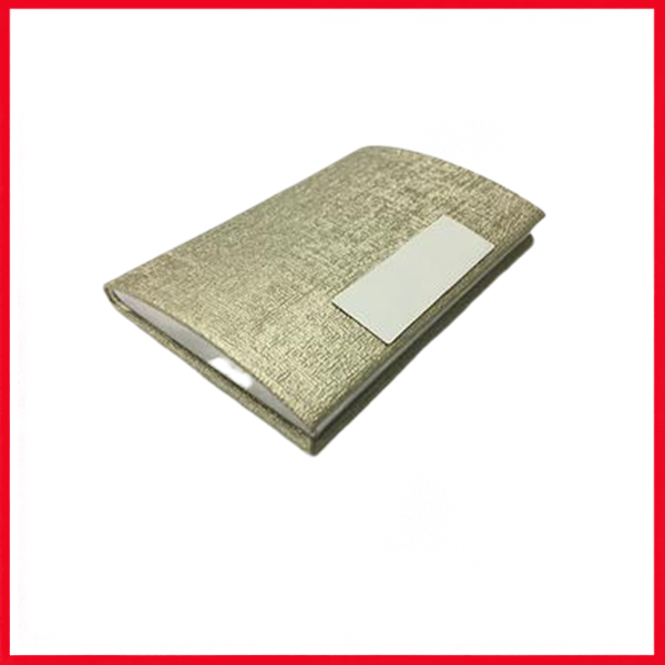 Gold PU Leather with Stainless Steel Card Holder.