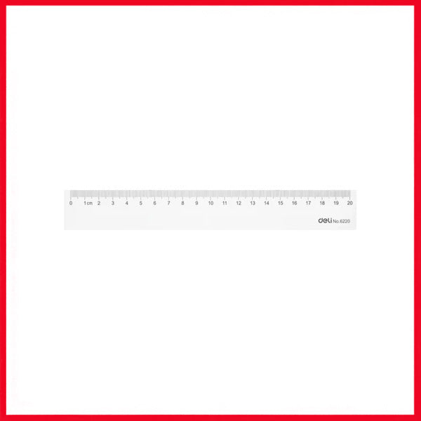 Deli E6220 Ps Ruler 20CM