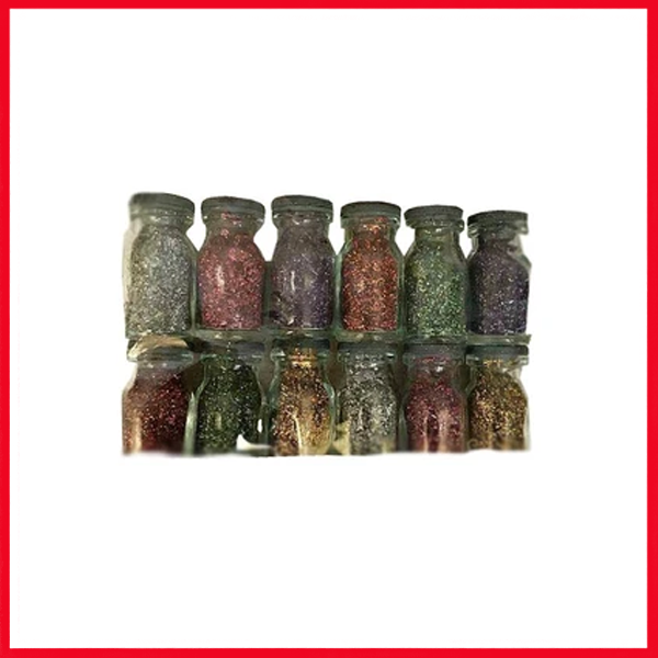 Fat 12 Bottles Vial Charm Glitter Pack of 12