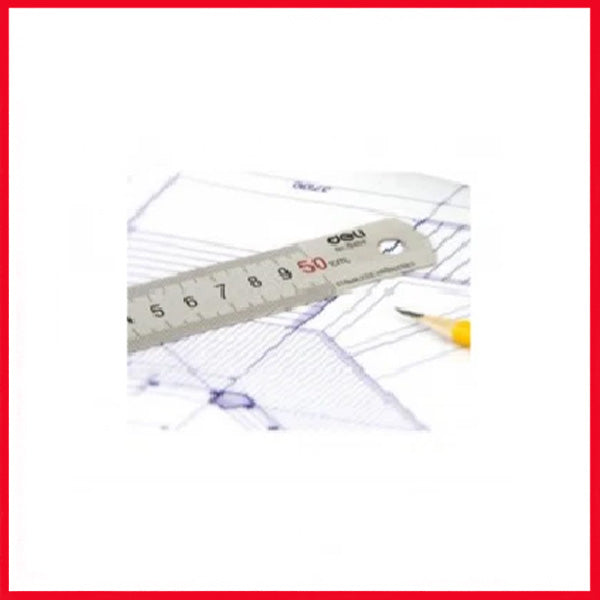 Metal Ruler DELI E8464 50cm-Stainless Steel Material