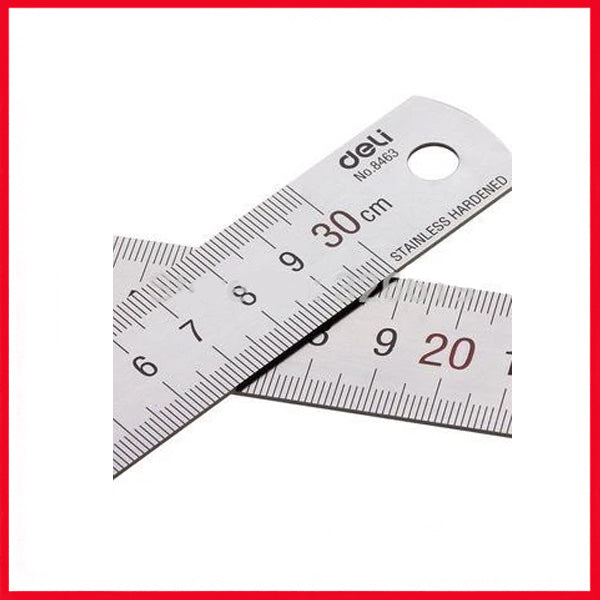 Metal Ruler DELI E8463 30cm- Stainless Steel Material