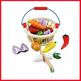 Fruit or Vegetable Cutting Set With Bucket