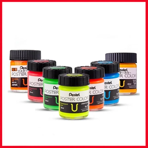 Pentel Poster Colors U Fluorescent 30cc (1Pc)