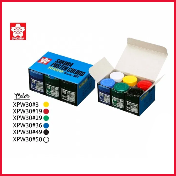 Sakura Poster Colours 30 ml  Set of 6 Colours
