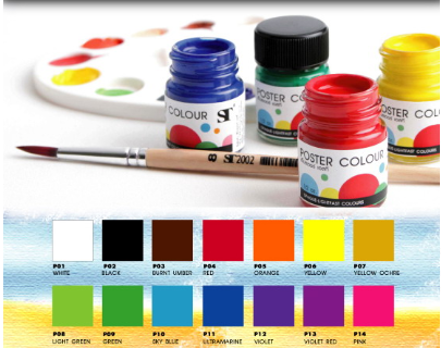 ST Poster Colors Pack of 6 30ml Set