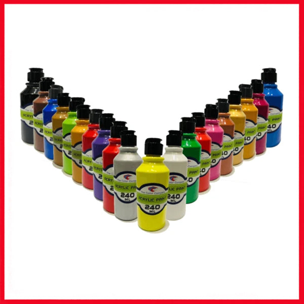 The Color Company Acrylic Paint Bottle 240ml For Artist