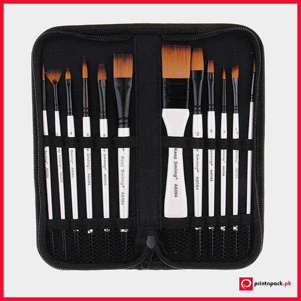 Keep Smiling Artist Value Brush Set 12 Pcs