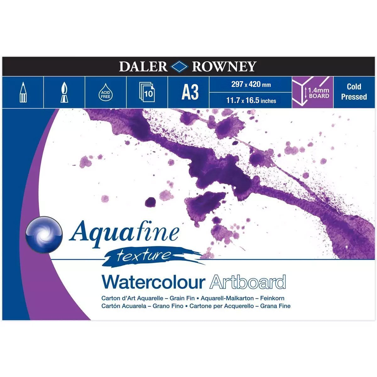 Daler Rowney Aquafine Watercolor Pad In A3/A4 size With 300gm